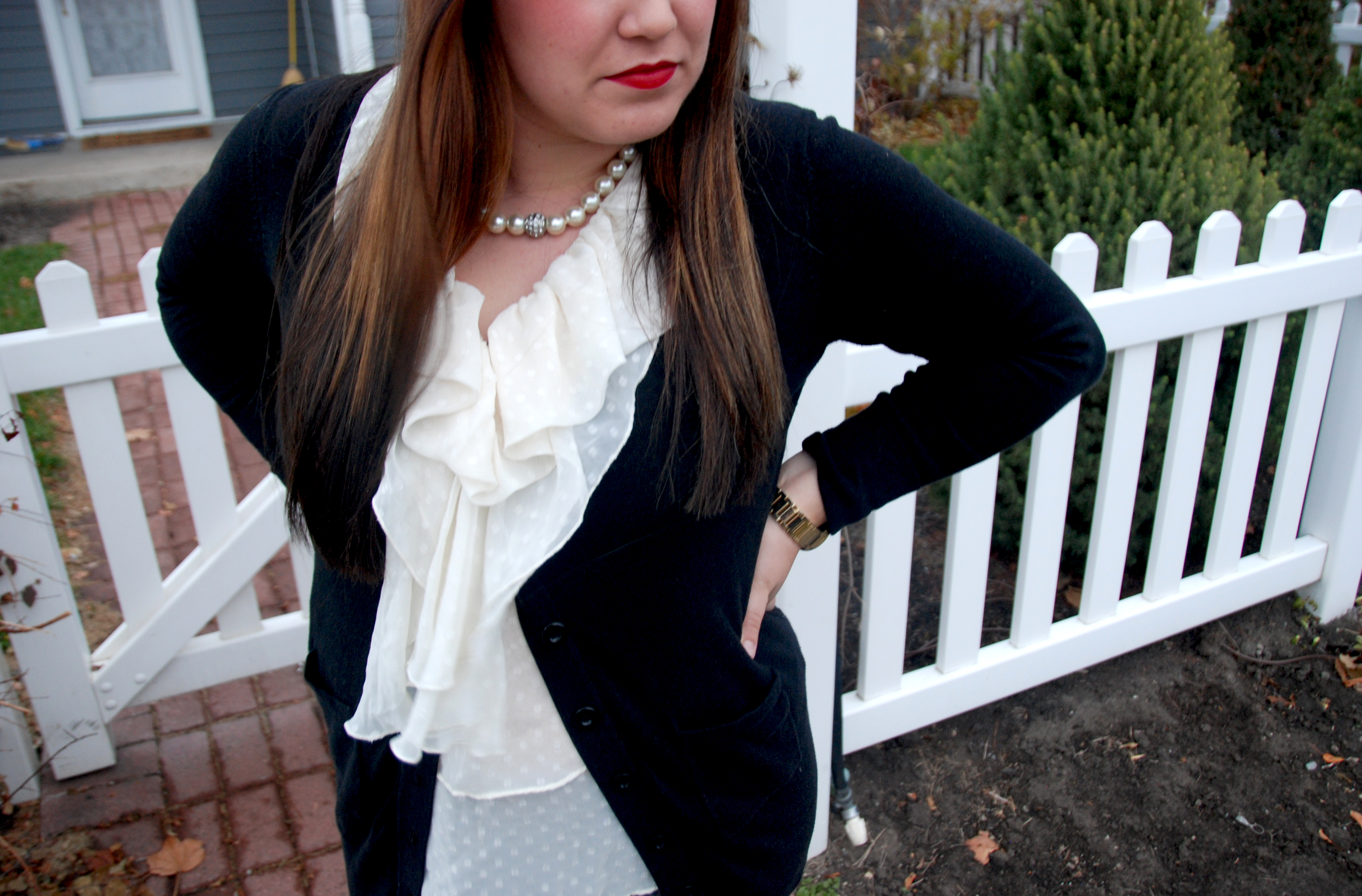 e509e971ae1 sweater  Nordstrom Rack jeans  H M (similar) boots  J. Crew necklace  gift  lipstick  Anthropologie